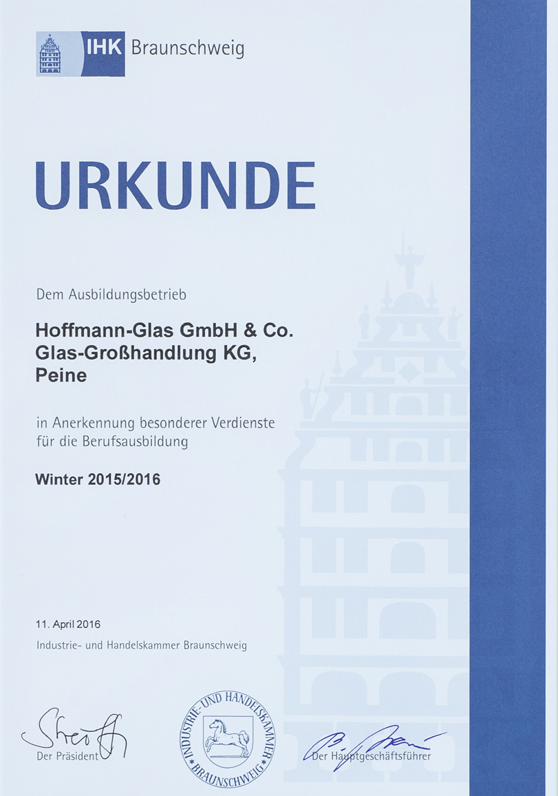 IHK Urkunde Winter 2015